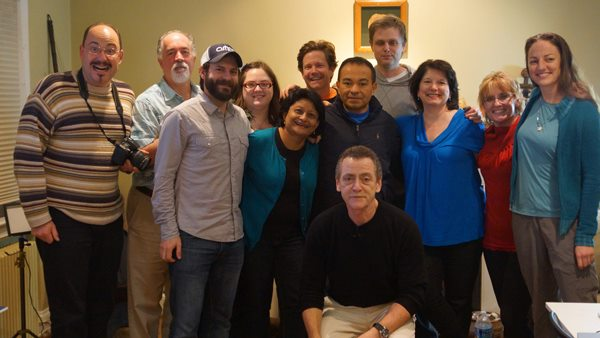 Kalpana Biswas (Front row, 2nd from L) with international filmmakers at a Backpack Video Journalism Workshop led by Bill Gentile(seated), Emmy-award winning video journalist in Washington DC.